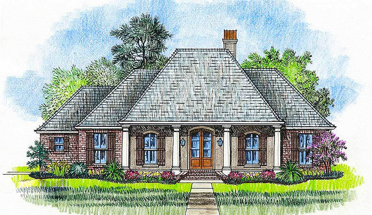 Handsome acadian house plan 56395sm architectural for Acadian home plans