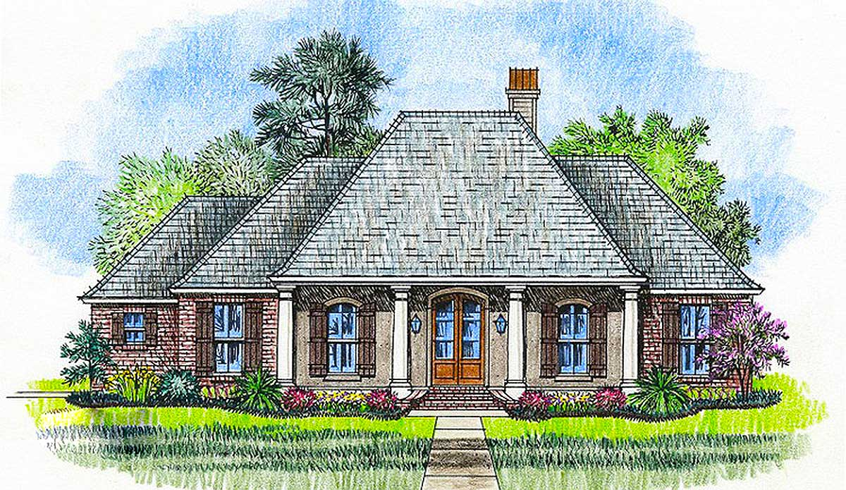 Handsome acadian house plan 56395sm architectural for House plans acadian