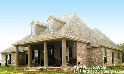 Acadian house plan with open floor plan 56397sm for Acadian home designs