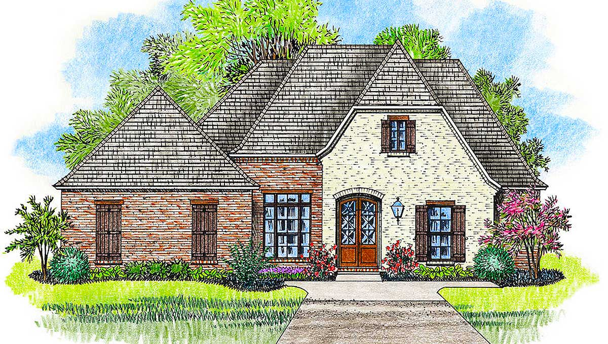 Open Concept 4 Bed Acadian House Plan 56406sm 1st