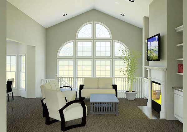 Atrium ranch home plan 57030ha 1st floor master suite for Atrium home plans