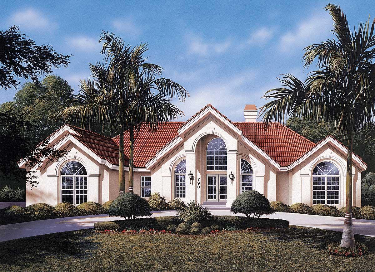 Atrium ranch home plan 57030ha 1st floor master suite for Atrium ranch house plans
