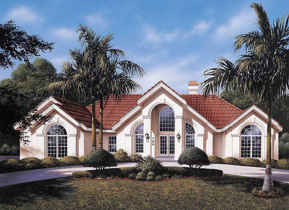 House Plans With Photos: Atrium Ranch Home Plan - 57030HA
