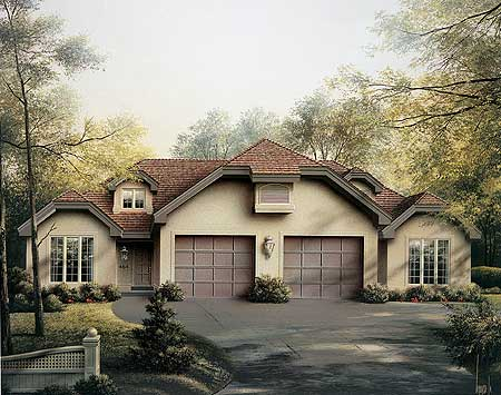 Stylish living with this open multi family design for Multi living house plans