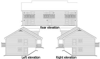 Multi family with residential look 57086ha for Multi residential house plans