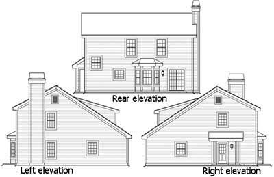 Three car garage with rear apartment 57114ha for Rear garage house plans