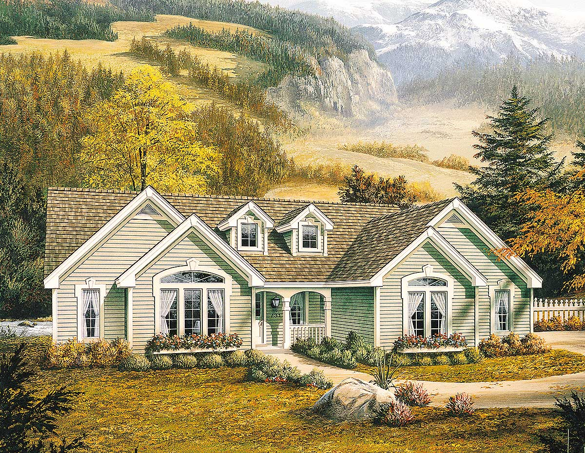 House Plan Small Home Design: Small Ranch For A Perfect Country Haven