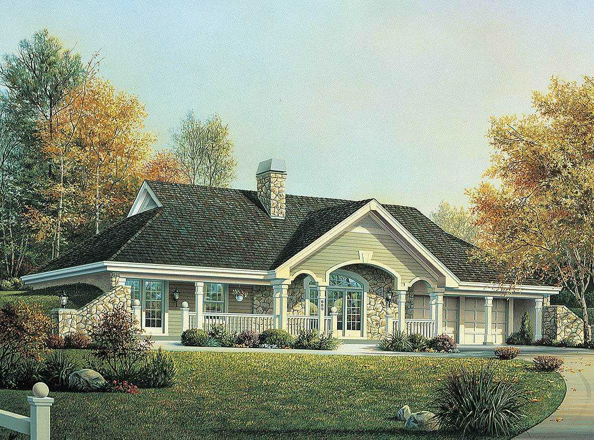 Earth berm home plan with style 57130ha architectural for Berm home