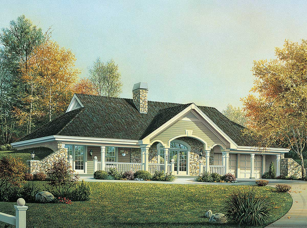 Earth berm home plan with style 57130ha architectural designs house plans - Earth home designs ...