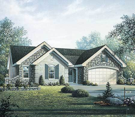 French country style home plan for a narrow lot 57131ha for Large french country house plans