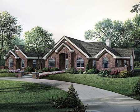 Stylish atrium ranch house plan with class 57134ha 1st for Atrium ranch house plans