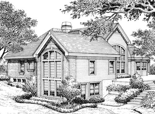 Stylish Atrium Ranch House Plan With Class 57134ha 1st