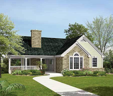 Country home plan for a sloping lot 57138ha 1st floor for House plans for large lots