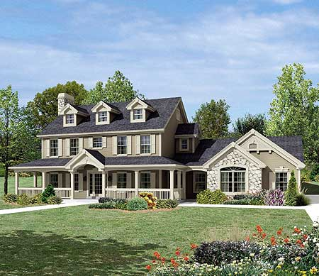 Fabulous Countryside Home Plan 57153ha Architectural Designs House Plans