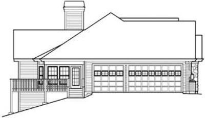 Atrium ranch home plan with sunroom 57155ha 1st floor for Atrium ranch house plans