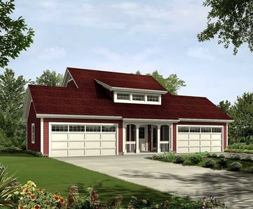 4-Car Apartment Garage With Style - 57162HA thumb - 01