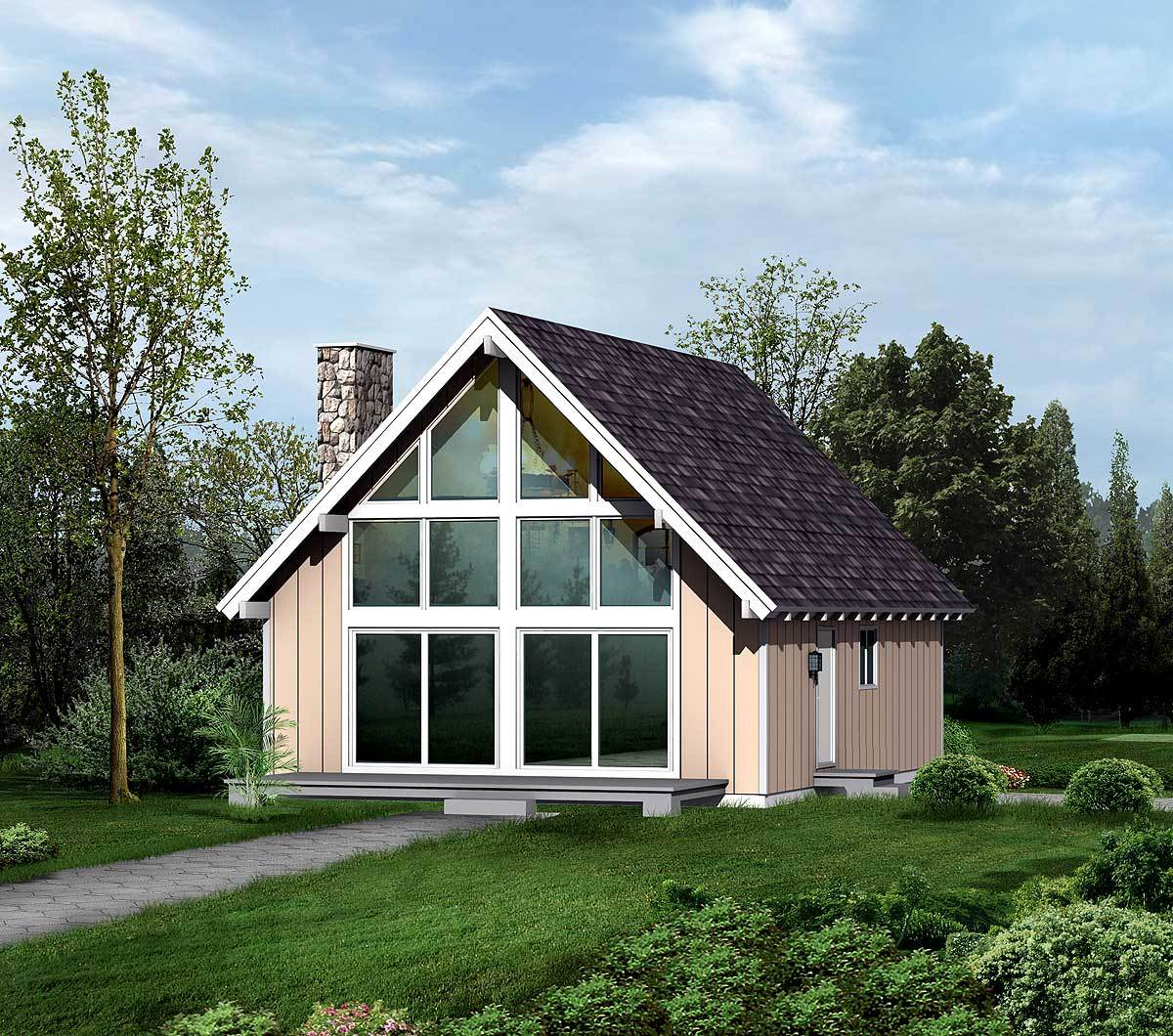 Cozy vacation retreat 57194ha architectural designs - Large summer houses energizing retreat ...