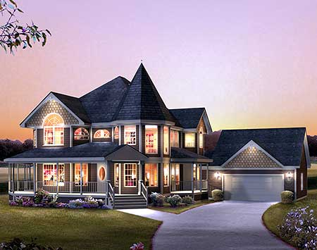Victorian with wrap around porch 57217ha 2nd floor for Modern homes with wrap around porches