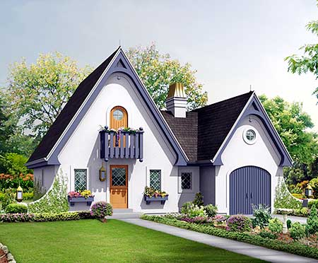 Enchanting getaway cottage 57220ha cottage european for European cottage house plans