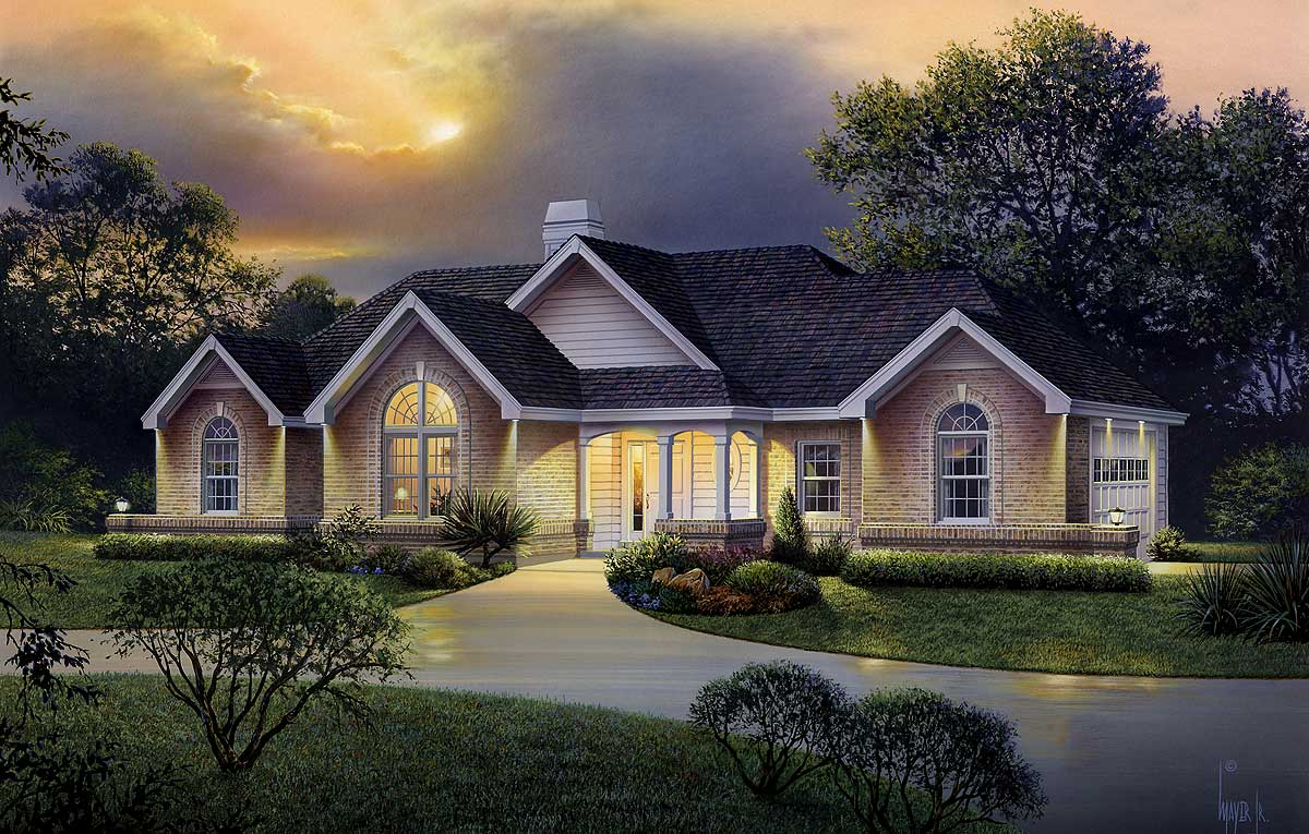 Atrium Ranch Home Plan 57226ha 1st Floor Master Suite