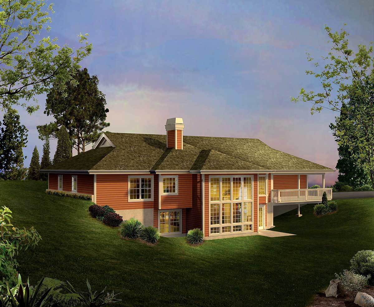 Ranch home with atrium windows 57231ha 1st floor for House plans with lots of windows