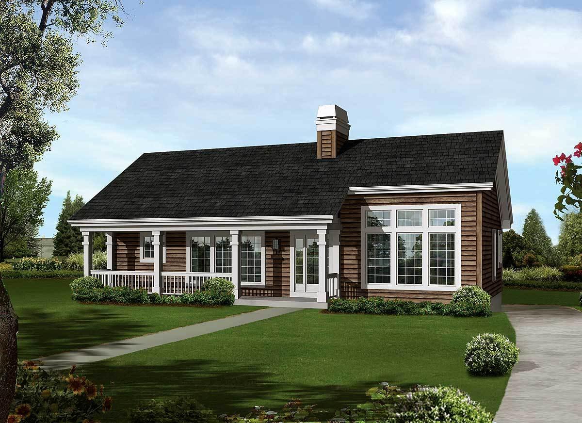 Economical atrium ranch home plan 57239ha for Economical ranch house plans