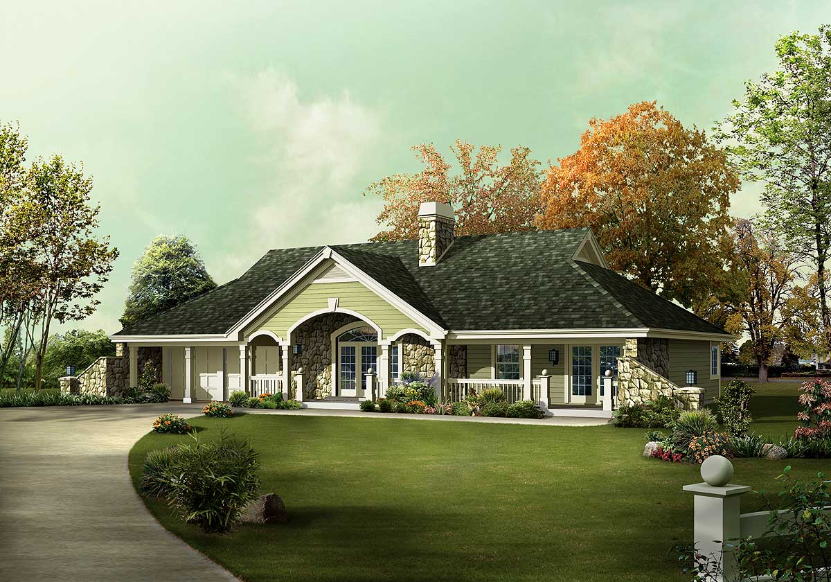 Unique country ranch home plan 57241ha architectural for Ranch designs