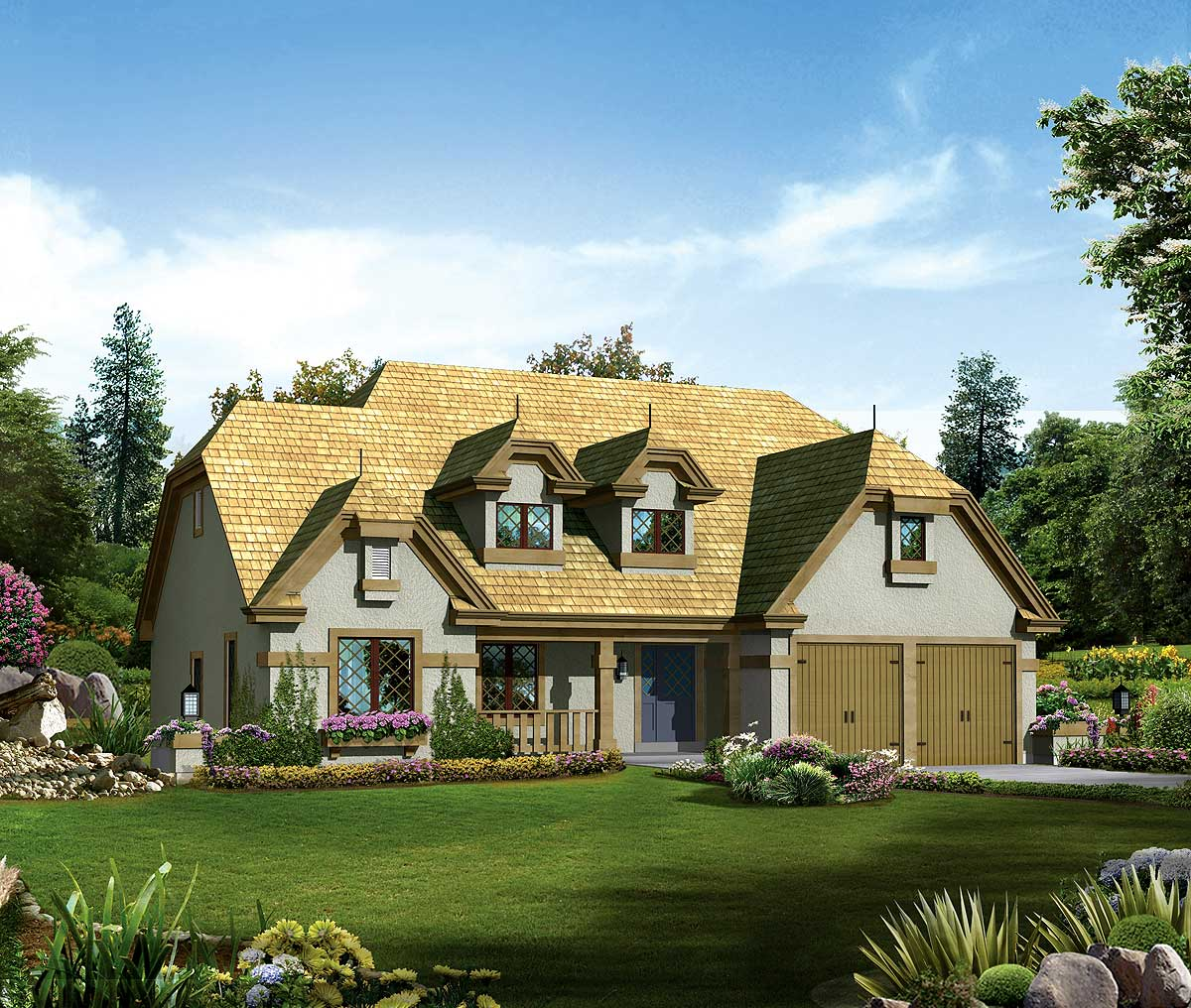 Old World Home Plan - 57242HA