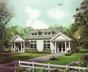 Stylish Duplex Home Plan - 57248HA thumb - 01