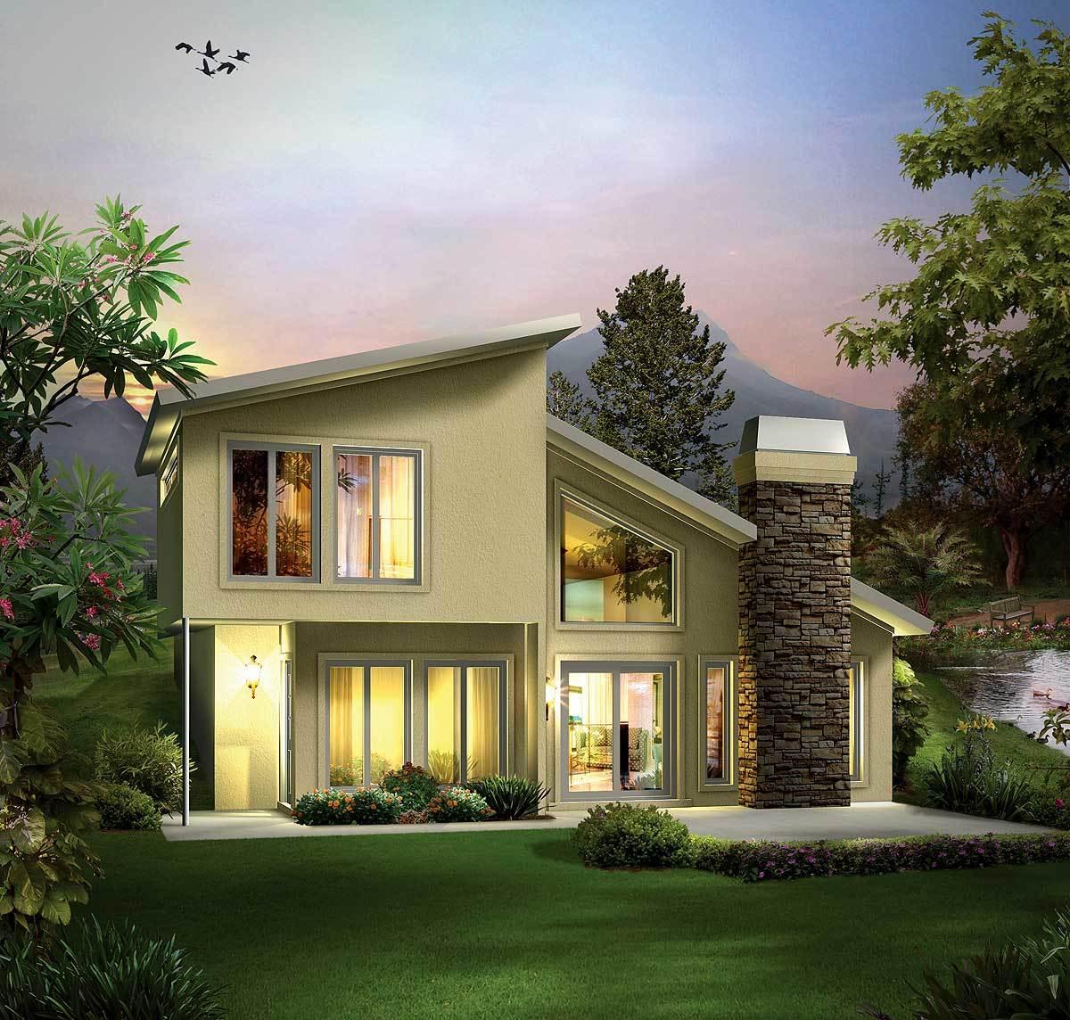Berm Homes Advantages House House Plans: Earth-Sheltered Berm Home Plan - 57264HA