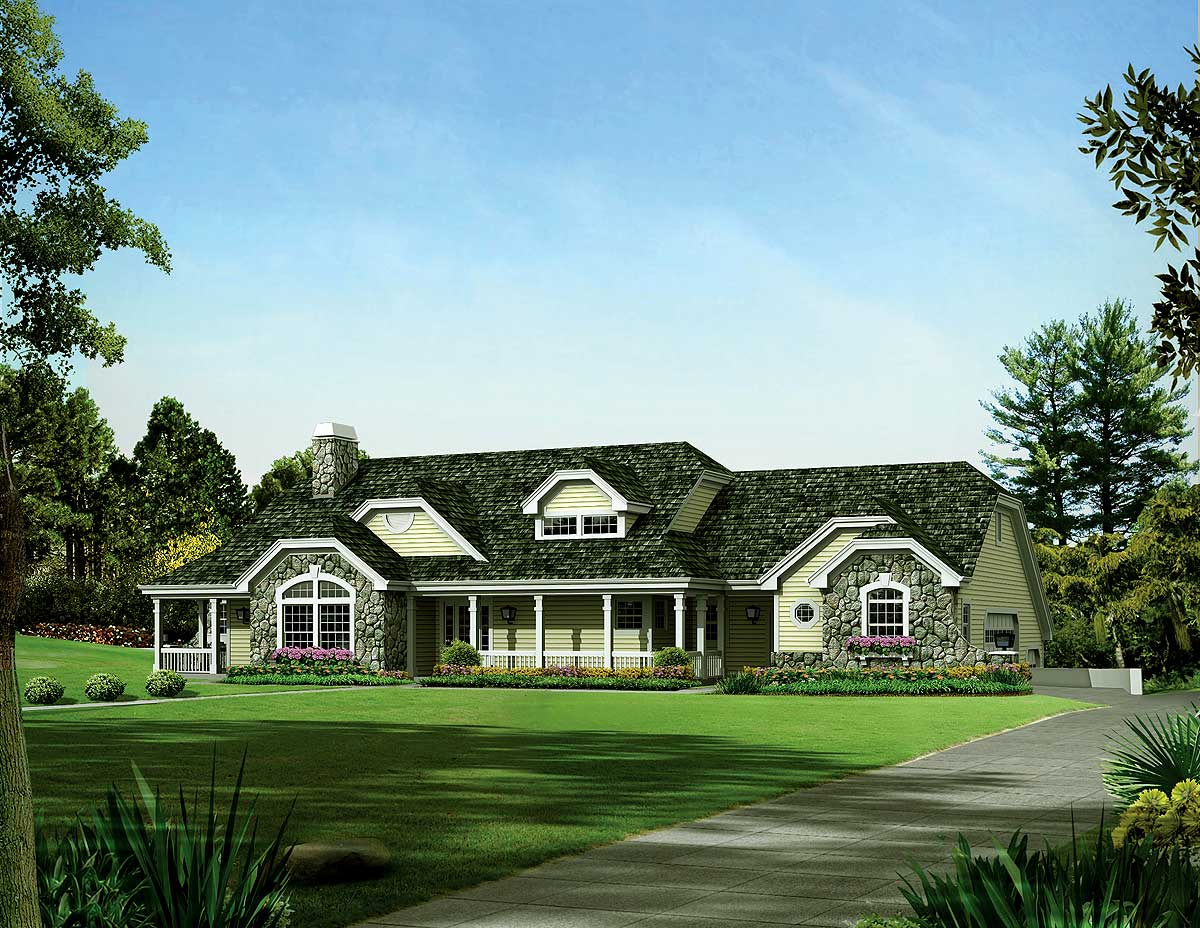 Ranch home plan for the car enthusiast 57273ha 1st for Architecturaldesigns com house plan 56364sm asp