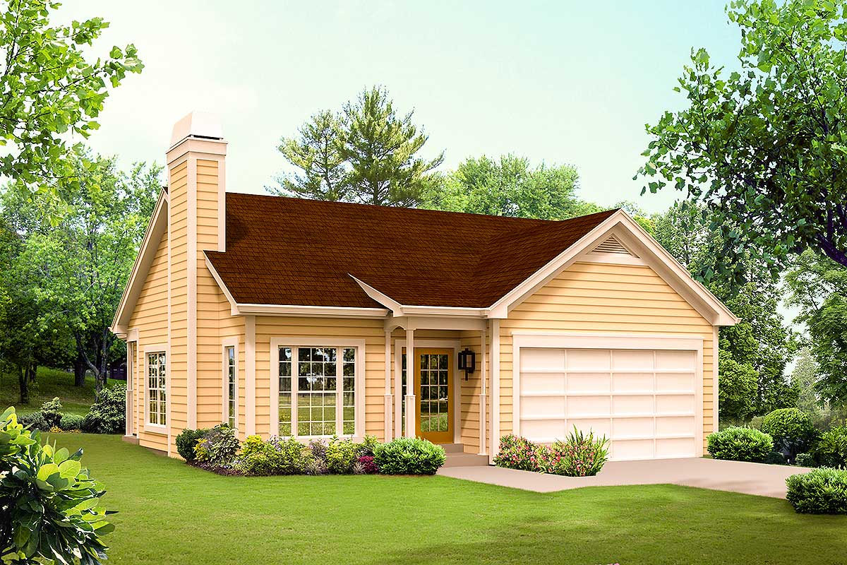 Ranch home with vaulted ceilings 57294ha architectural for Home plans with vaulted ceilings
