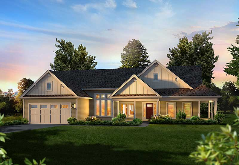 Fabulous ranch home plan 57312ha 1st floor master for Architecturaldesigns com house plan 56364sm asp