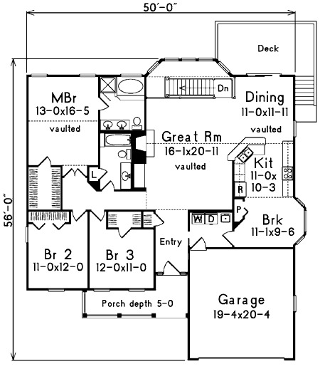Affordable Atrium Ranch 5733ha 1st Floor Master Suite