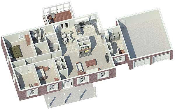 Easily Expandable House Plan   HA   st Floor Master Suite    Floor Plan