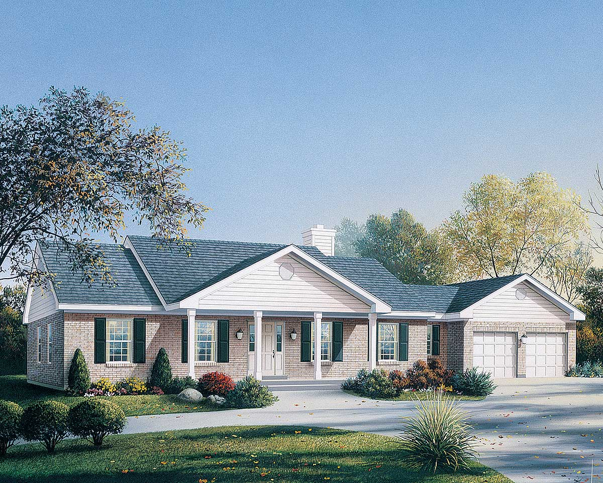 Easily expandable house plan 5759ha 1st floor master for Expandable ranch house plans