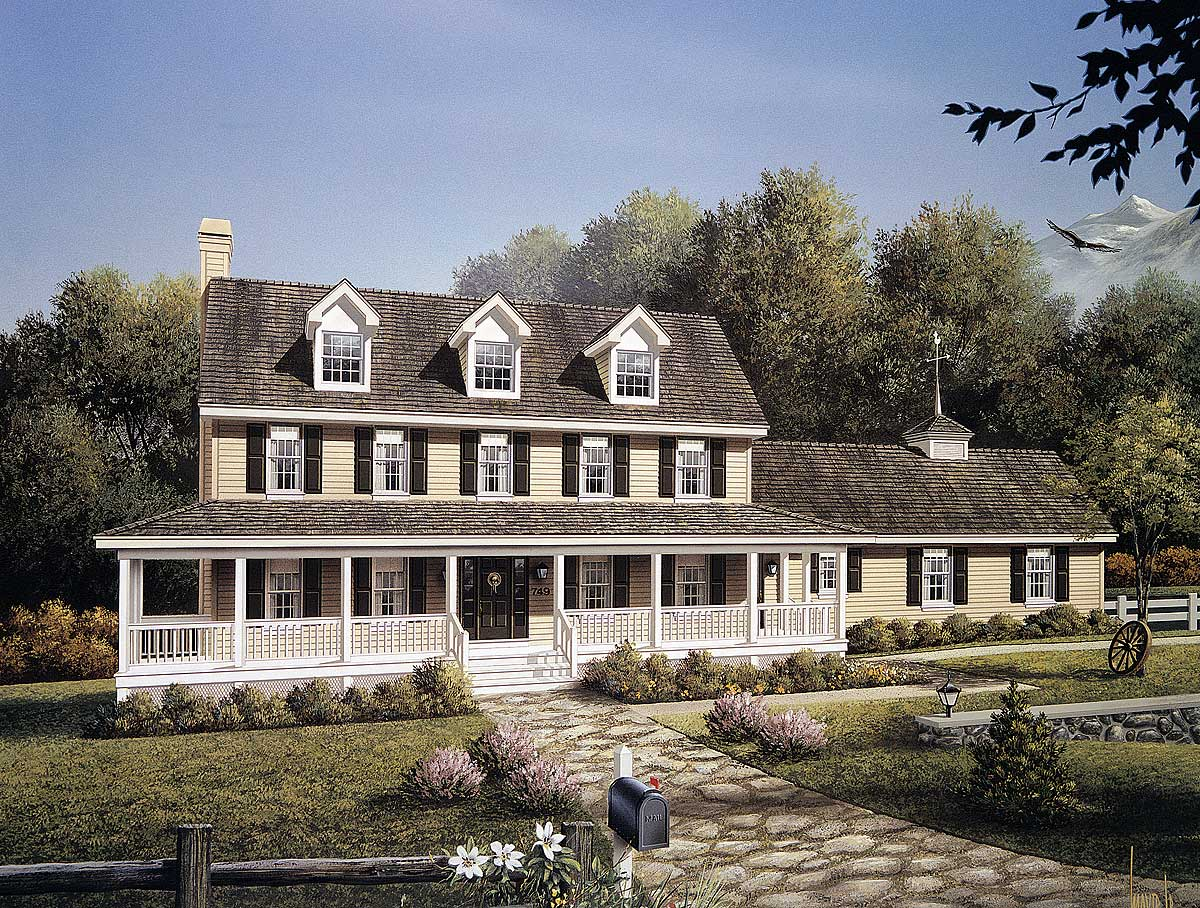 Stately Country Home Plan 5792ha Architectural Designs
