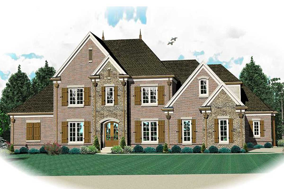 Stately traditional house plan 58391sv architectural for Stately house plans