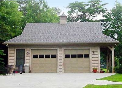 2-Car Garage with Side Porch - 58548SV thumb - 01