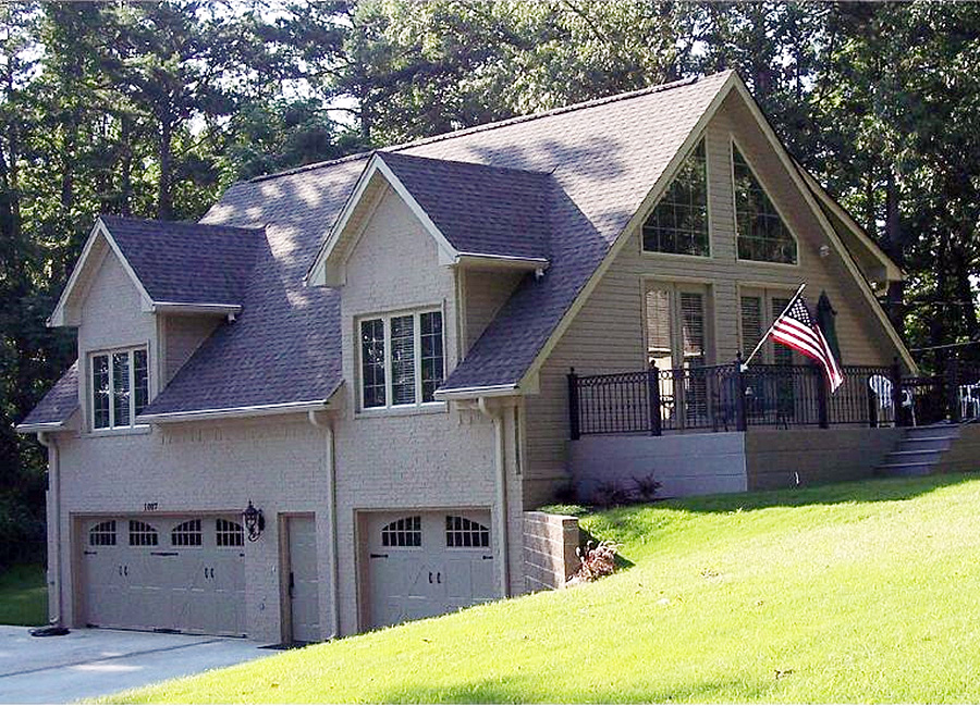 Vaulted ceilings throughout 58549sv cottage northwest for Drive under garage house plans