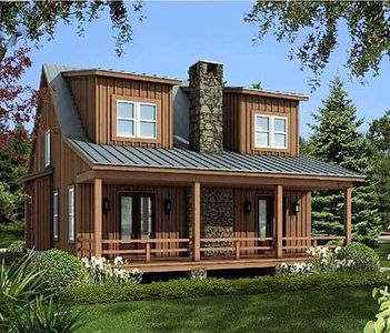 Rustic vacation cottage 58553sv architectural designs for Rustic vacation home plans