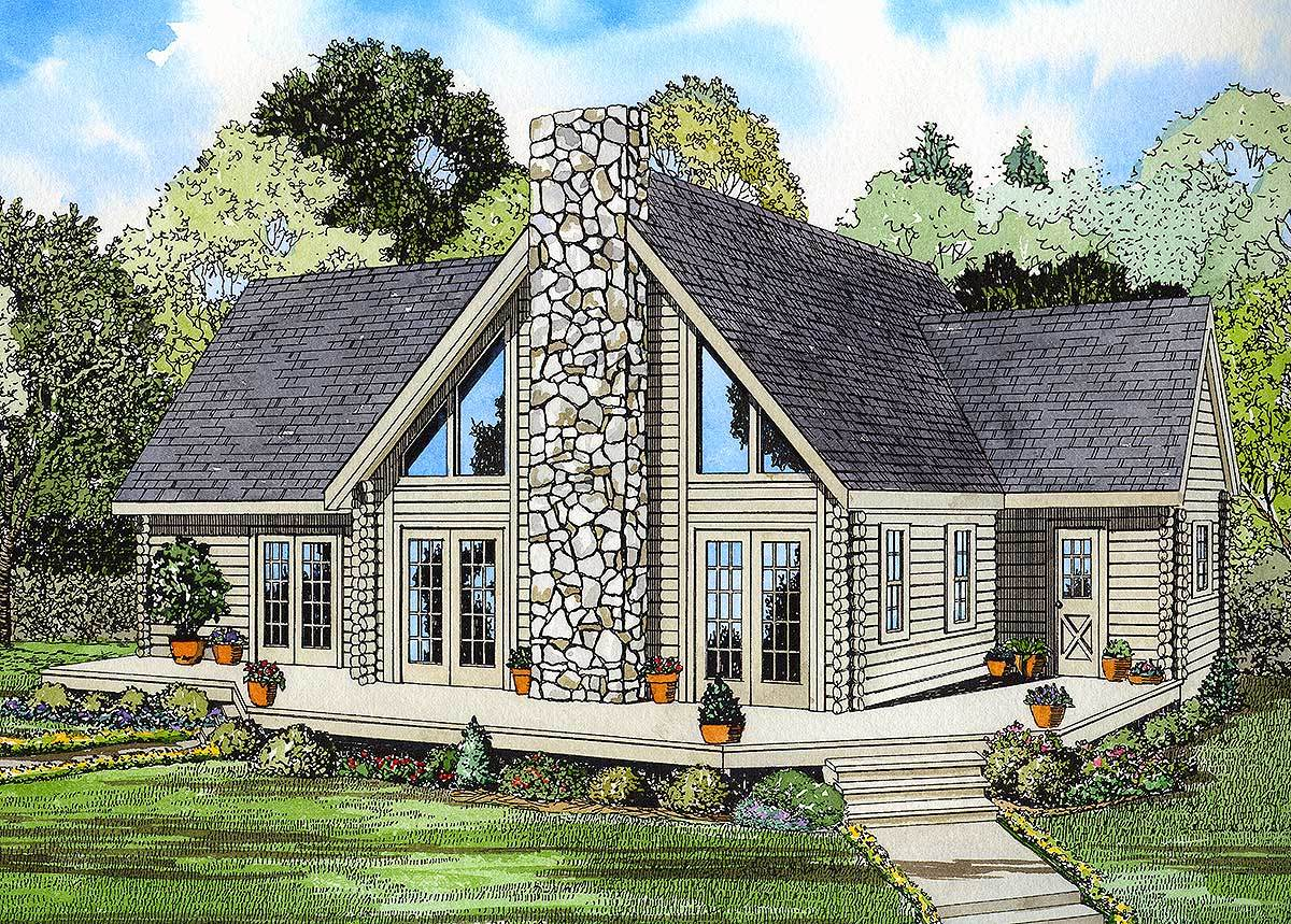 Log home grace 59006nd architectural designs house plans for Log home architects