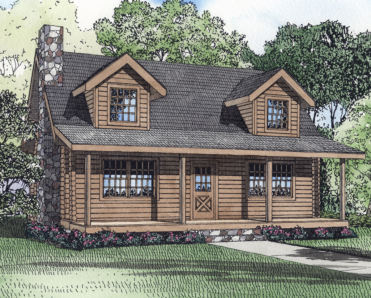 Cozy log home 59015nd architectural designs house plans for Cosy house plans