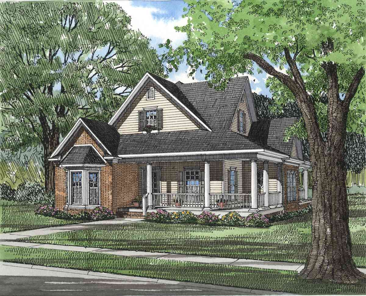 Southern traditional 5903nd architectural designs for Traditional southern house plans