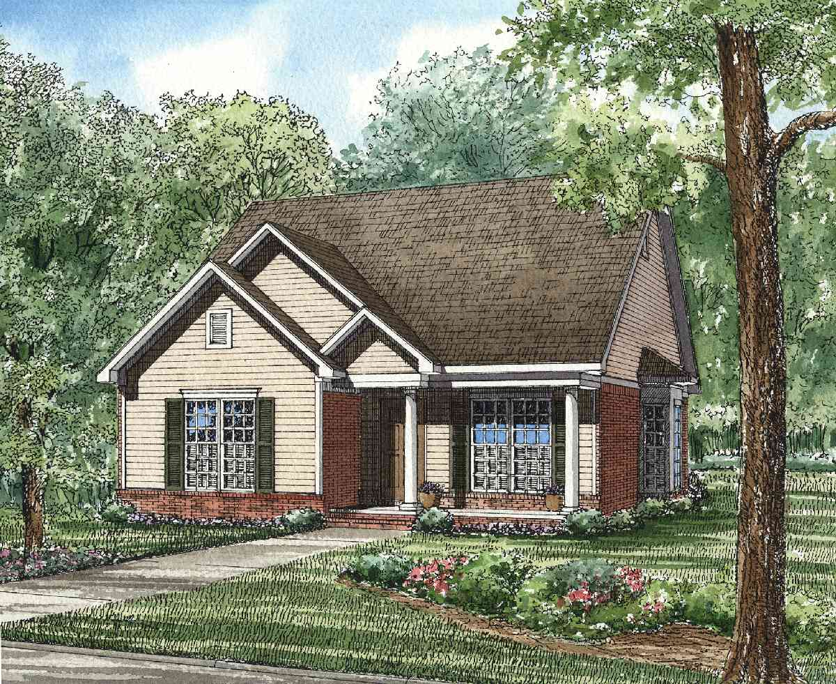 Charming cottage design 59062nd 1st floor master suite for Charming house plans