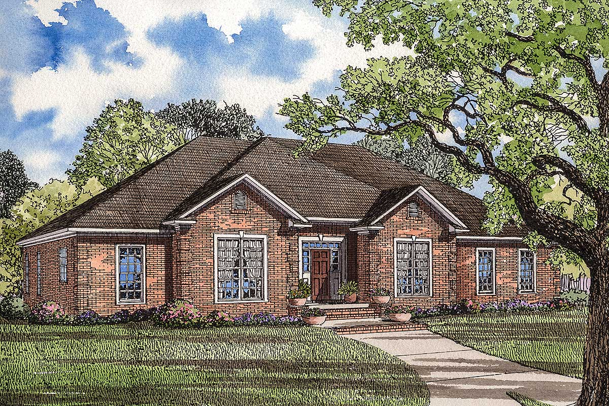Neo-Traditional 4 Bedroom House Plan - 59068ND ...