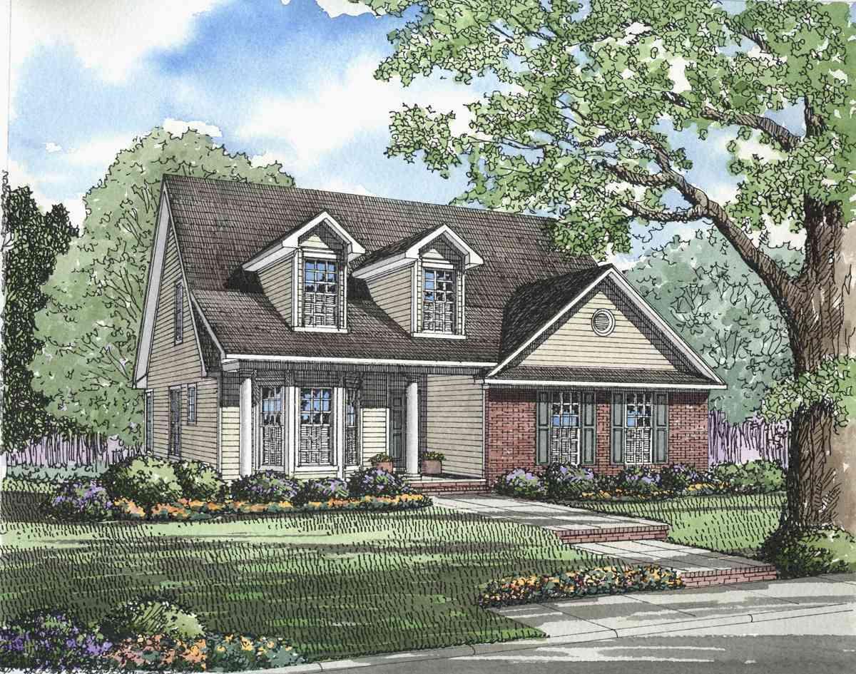 Southern traditional home plan 59086nd architectural for Traditional southern house plans