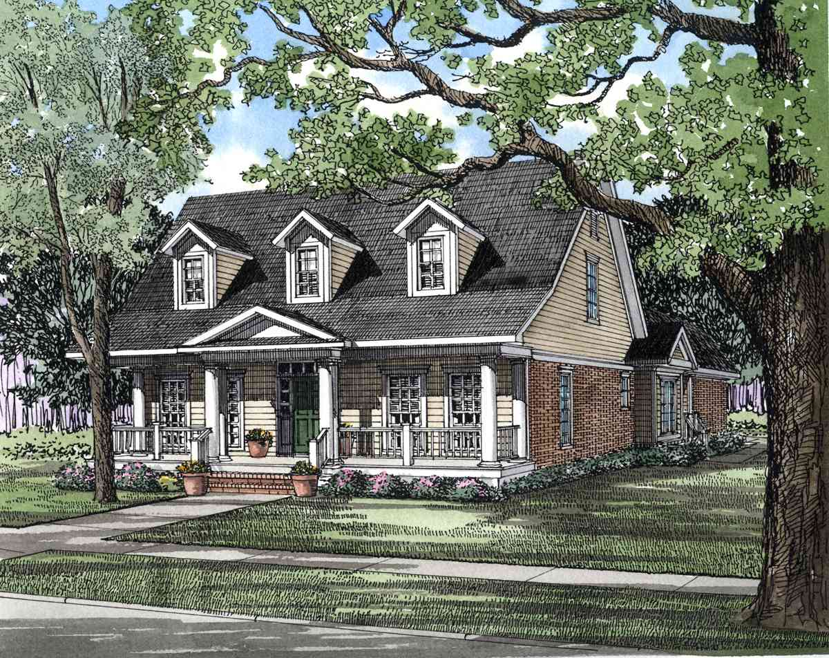 Traditional Country House Plan 59112nd Architectural