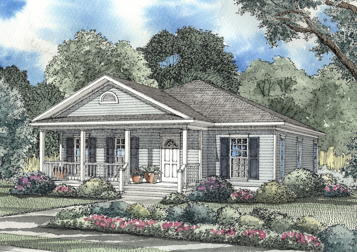Southern traditional home plan 59122nd architectural for Traditional southern house plans