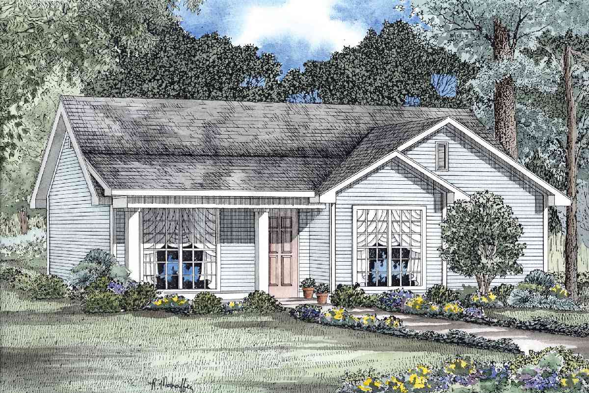 Charming ranch 59129nd architectural designs house plans for Reverse ranch house plans